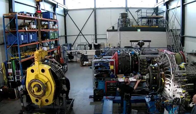 MFS shop services: LM6000 combustor exchange